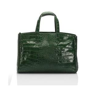 Geantă din piele Lisa Minardi Magnata, verde