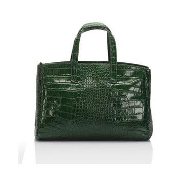 Geantă din piele Lisa Minardi Magnata verde