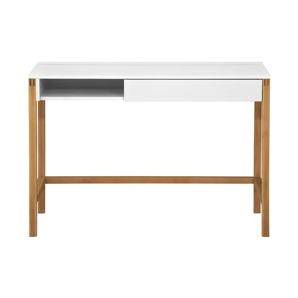 Pracovní stůl s bílou deskou Woodman NorthGate