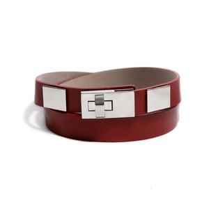 Nastavitelný kožený pásek Eris červený, 66 až 100 cm