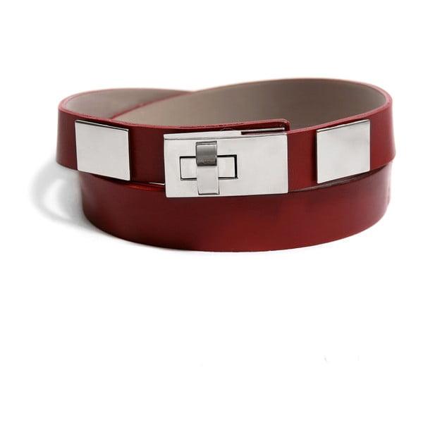 Nastavitelný kožený pásek Eris červený, 72 až 108 cm
