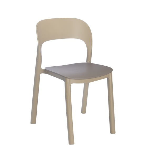 Set 4 scaune cu șezut maro Resol Ona, maro nisipiu