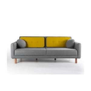 Rozkládací sofa Bubi Grey/Mustard