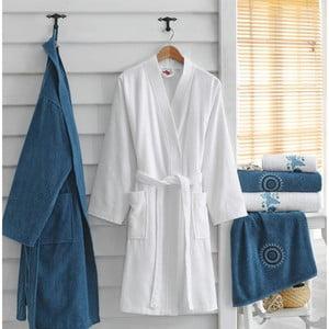 Set 2 županů a 4 ručníků z bavlny Marina