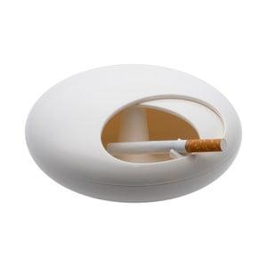Uzavíratelný popelník Pebble, bílý
