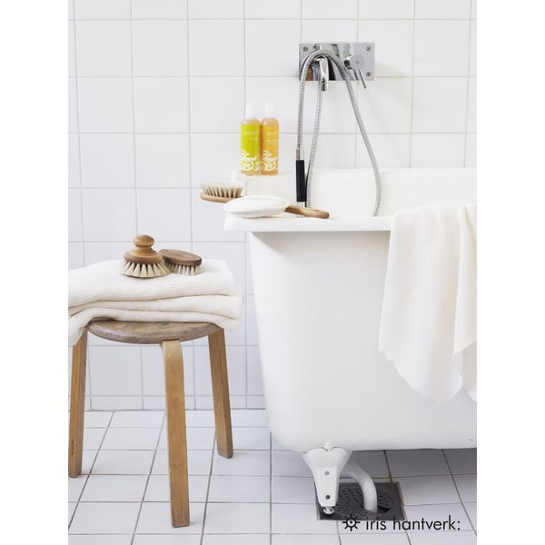 Šedý lněný ručník Iris Hantverk Gåsöga, 50x70cm