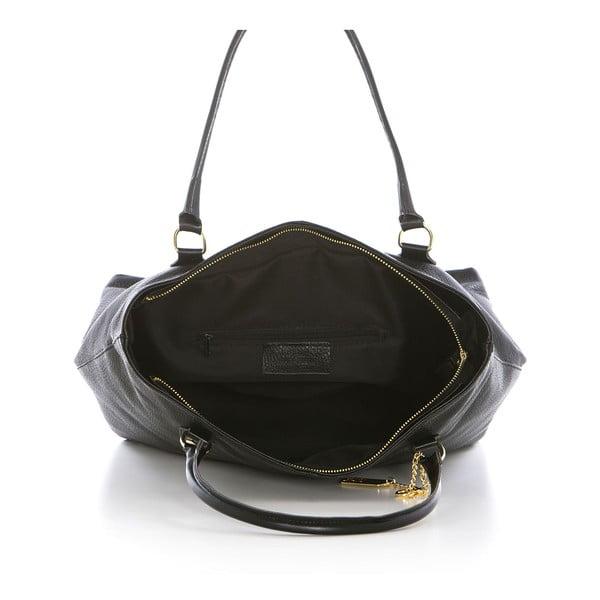 Černá kožená kabelka Federica Bassi Harmonia