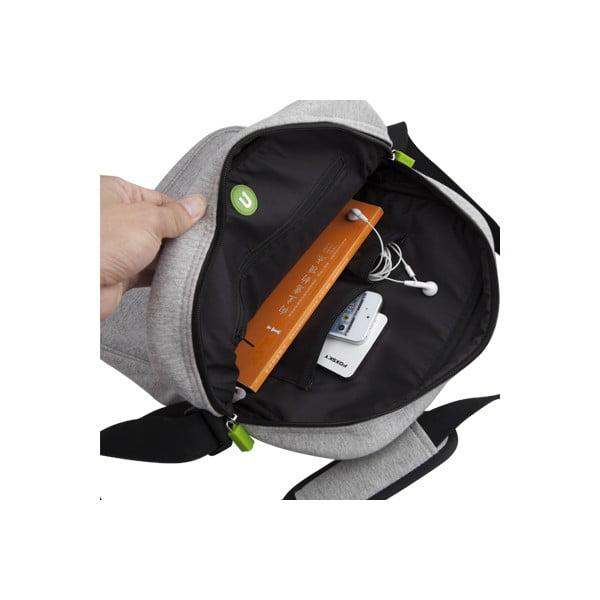Pixelová taška přes rameno, grey/fuchsia