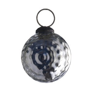 Set šesti skleněných ozdob Ball, antique, stříbrná