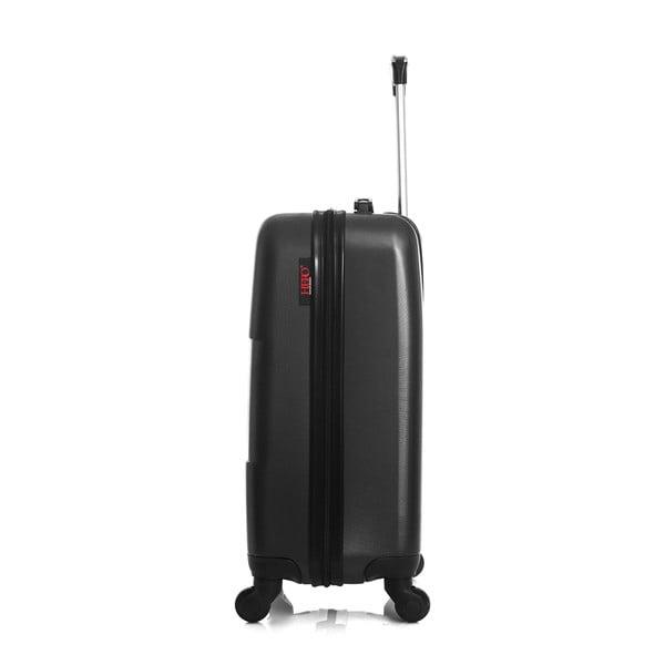 Černý cestovní kufr na kolečkách Hero Coronado, 36 l