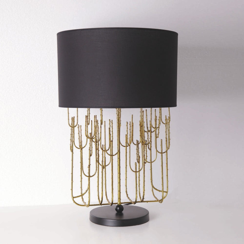 Stolní svítidlo z kovu zlaté barvy bez stínítka Thai Natura Mexico