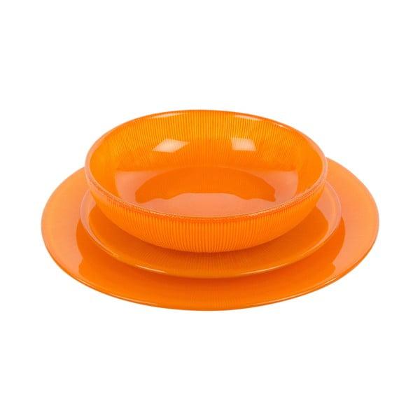 Sada 18 skleněných talířů Arancione