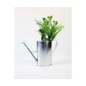 Zinková váza Surdic Watering Can Wild Flowers stříbrné barvy, 10 x 30 cm