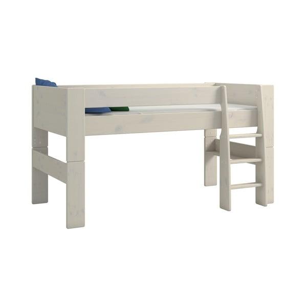 Mléčně bíle lakovaná dětská patrová postel z borovicového dřeva Steens For Kids, výška 113cm