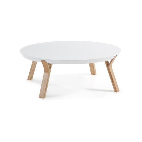 Solid fehér dohányzóasztal, ⌀ 90 cm - La Forma