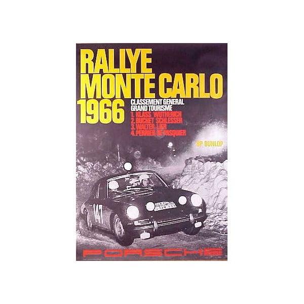 Plakát Porsche Monte Carlo Rallye 1966, 70x50 cm