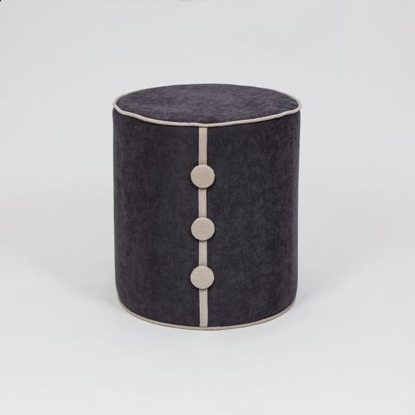 Čierny sedací taburet Dombi Leny, ⌀ 41 cm