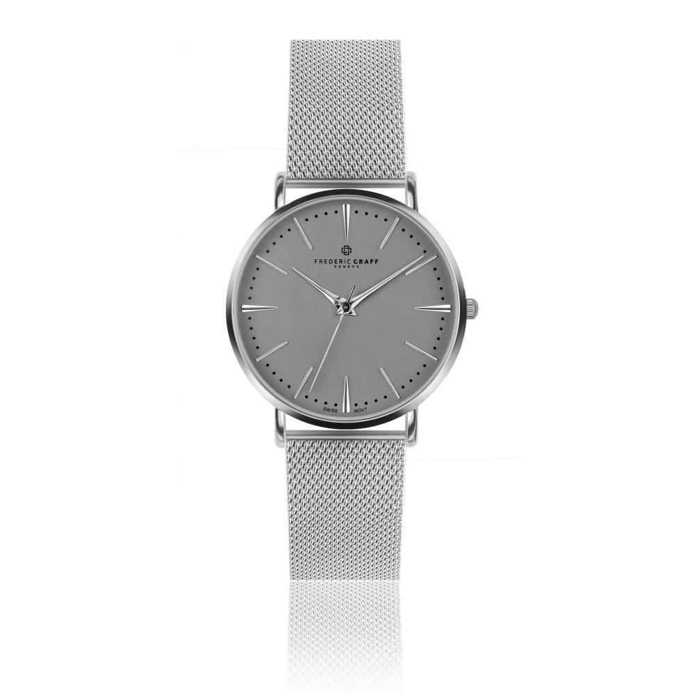 8c463c896b Unisex hodinky s páskem z nerezové oceli ve stříbrné barvě Frederic Graff  Silver Eiger
