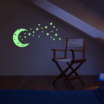 Autocolant fosforescent Fanastick Moon And The Stars de la Ambiance