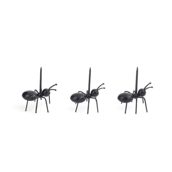 Komplet 20 wykałaczek do serwowania Kikkerland Ants