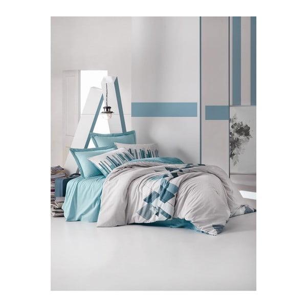 Set lenjerie de pat din bumbac pentru pat de o persoană Ranforce Katie, 160 x 220 cm