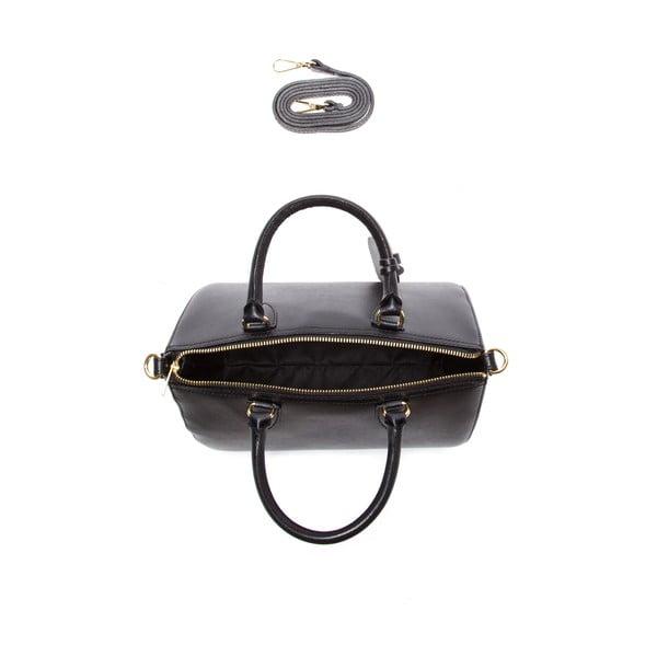 Černá kožená kabelka Sofia Cardoni Ines