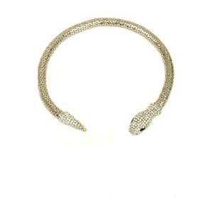 Náhrdelník Snake Rhodium