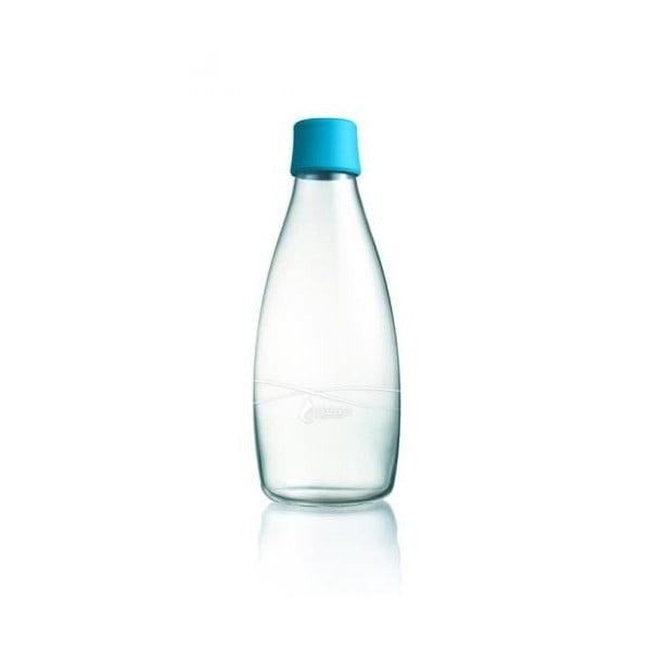 Jasnoniebieska butelka ze szkła ReTap, 500 ml