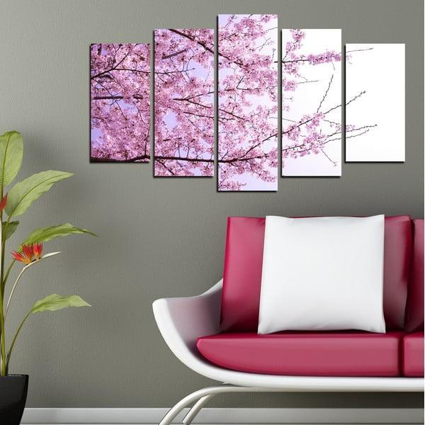 5dílný obraz Jarní život