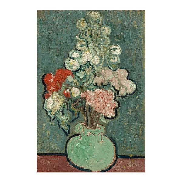 Obraz Vincenta van Gogha - Vase of Flowers, 90x60 cm