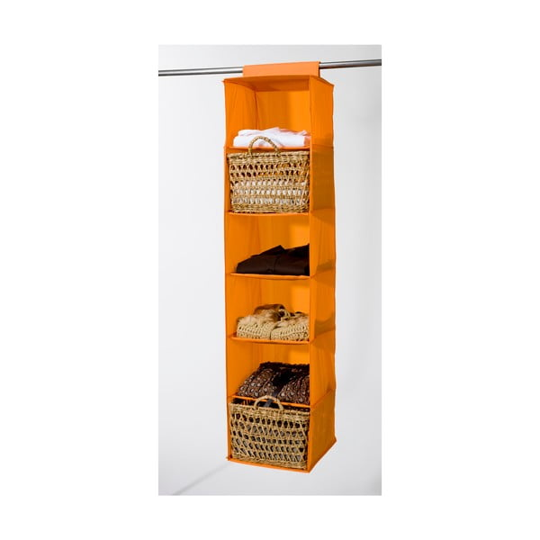 Textilní závěsný organizér Orange 6 Rack