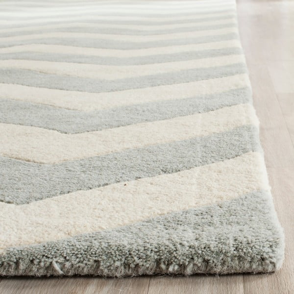 Vlněný koberec Crosby Grey, 91x152 cm