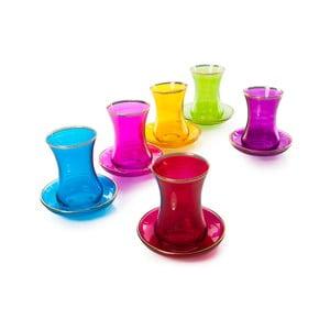 12dílný barevný skleněný čajový Vidrex Set Marrakesh, 90 ml