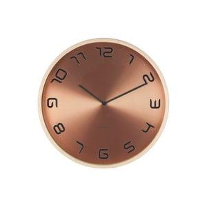Ceas de perete Present Time Bent, bronz