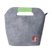Šedo-zelený set příboru, svačinového boxu a tašky Bergner Business
