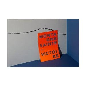 Černá nástěnná dekorace se siluetou města The Line Sainte Victoire XL