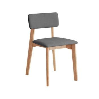 Scaun de birou cu șezut textil DEEP Furniture Max, gri închis