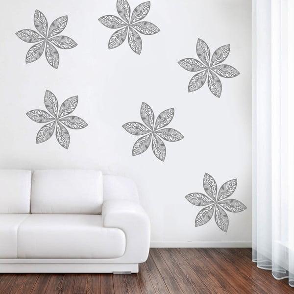 Samolepka na zeď Retro květy, 70x50 cm
