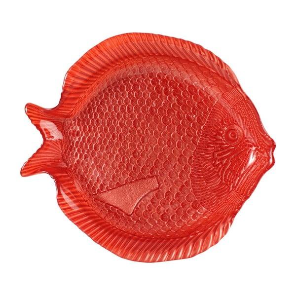 Červený skleněný dezertní talíř Côté Table Ocean