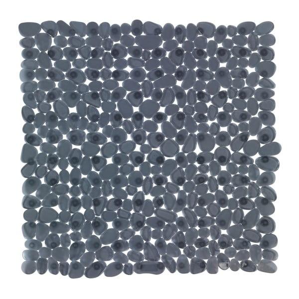 Antracitovosivá protišmyková kúpeľňová podložka Wenko Drop, 54×54 cm