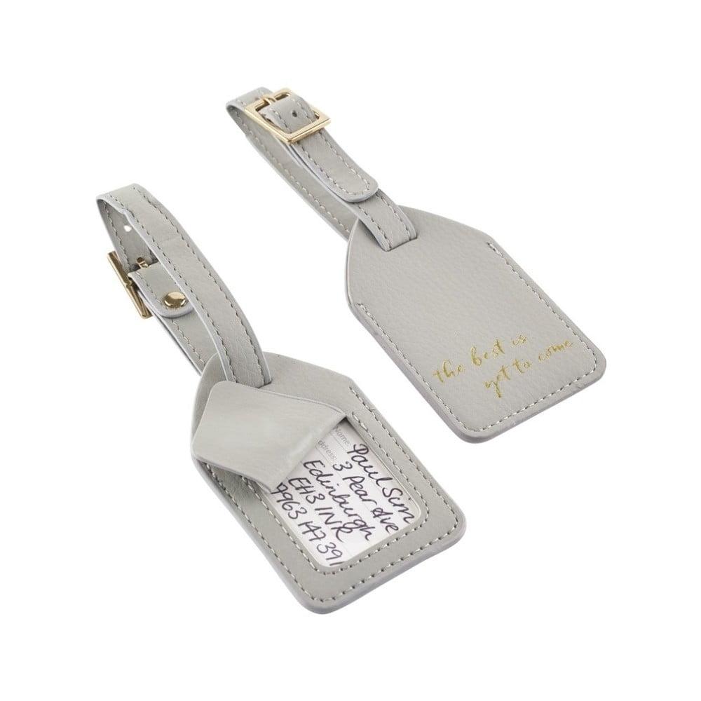 Produktové foto Sada 2 béžových štítků na kufr Busy B