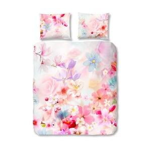 Růžové bavlněné povlečení Müller Textiel Descanso, 140 x 200 cm