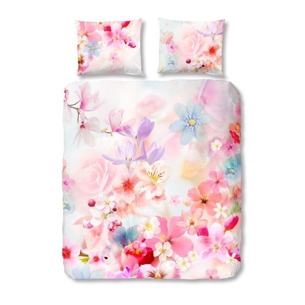 Růžové bavlněné povlečení Muller Textiels Descanso, 200 x 200 cm