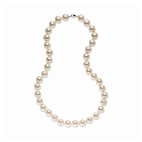 Světle oranžový perlový náhrdelník Pearls Of London Sea, 52cm