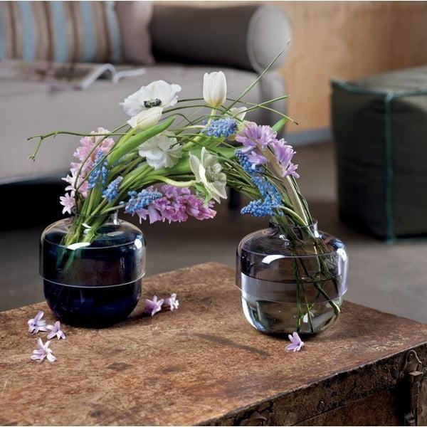 Sada 2 šedo-fialových skleněných váz LEONARDO Fusione