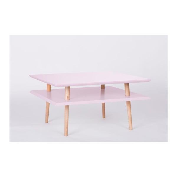 Konferenční stolek UFO Square Pink, 68 cm (šířka) a 35 cm (výška)