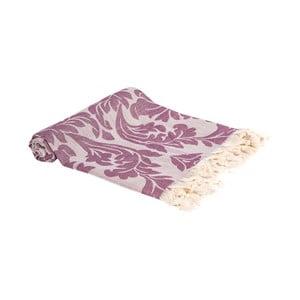 Fialová ručně tkaná osuška Ivy's Nesrin, 100x180cm