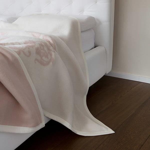 Vlněný pléd Agata 210x260 cm, růžový
