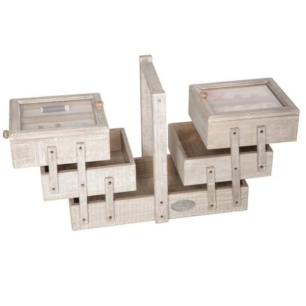 Dřevěný box na šití Sewing