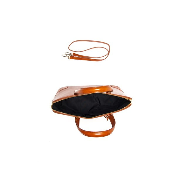 Kožená kabelka Luisa Vanini 364 Cognac